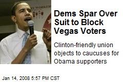 Dems Spar Over Suit to Block Vegas Voters