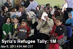 Syria's Refugee Tally: 1M