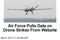 Air Forces Pulls Data on Drone Strikes From Website