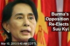 Burma's Opposition Re-Elects Suu Kyi