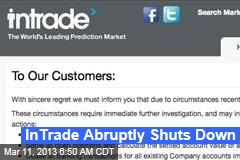 InTrade Abruptly Shuts Down