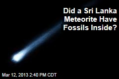 Did a Sri Lanka Meteorite Have Fossils Inside?