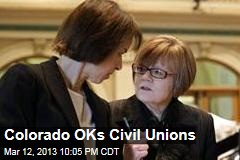 Colorado OKs Civil Unions