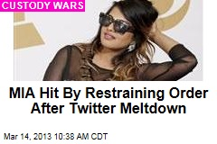 MIA Hit By Restraining Order After Twitter Meltdown