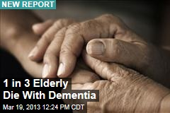 1 in 3 Elderly Die With Dementia