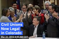 Colorado Governor Signs Civil Unions Bill