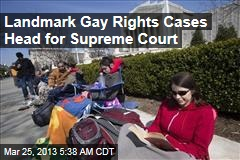 Supreme Court Set to Hear Landmark Gay Rights Cases