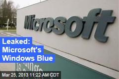 Leaked: Microsoft's Windows Blue