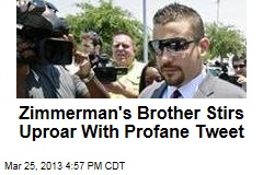 Tweet by Zimmerman's Brother Sparks Racial Debate