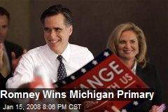 Romney Wins Michigan Primary