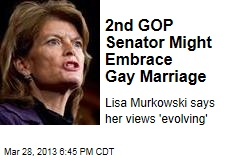 2nd GOP Senator Might Embrace Gay Marriage