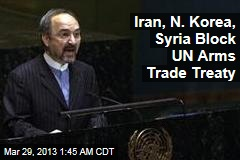Iran, N. Korea, Syria Block UN Arms Trade Treaty