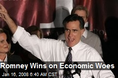 Romney Wins on Economic Woes