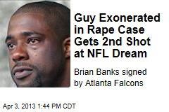 Guy Exonerated in Rape Case Gets 2nd Shot at NFL Dream
