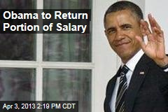 Obama to Return 5% of Salary Over Furloughs