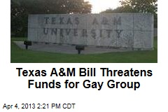 Texas A&M Bill Threatens Funds for Gay Group