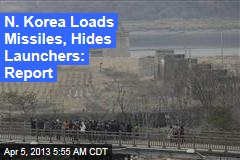 N. Korea Loads Missiles, Hides Launchers: Report