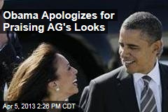 Obama Apologizes for Praising AG's Looks