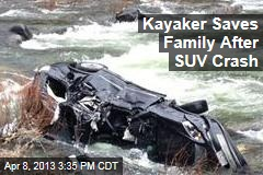 Kayaker Saves Family After SUV Crash