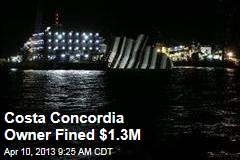 Costa Concordia Owner Fined $1.3M
