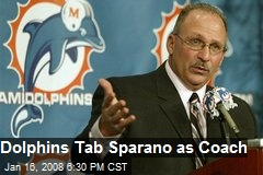Dolphins Tab Sparano as Coach