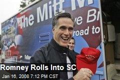 Romney Rolls Into SC