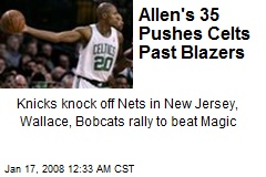 Allen's 35 Pushes Celts Past Blazers