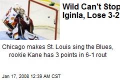Wild Can't Stop Iginla, Lose 3-2