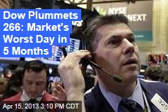 Dow Plummets 266: Market's Worst Day in 5 Months