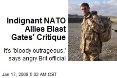 Indignant NATO Allies Blast Gates' Critique