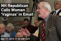 NH Republican Calls Women 'Vaginas' in Email