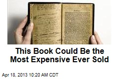 This Book Could Be the Most Expensive Ever Sold