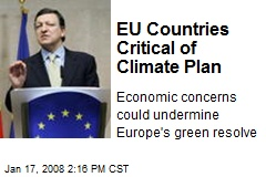 EU Countries Critical of Climate Plan