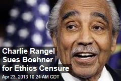 Charlie Rangel Sues Boehner for Ethics Censure