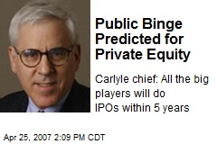 Public Binge Predicted for Private Equity