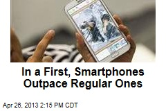 In a First, Smartphones Outpace Regular Ones