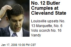 No. 12 Butler Crumples at Cleveland State