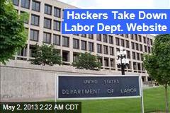 Hackers Hit Labor Dept. Website