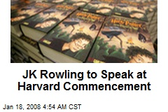 JK Rowling to Speak at Harvard Commencement