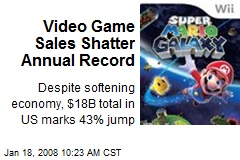 Video Game Sales Shatter Annual Record