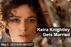 Keira Knightley Gets Married