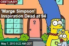 'Marge Simpson' Inspiration Dead at 94