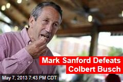 Mark Sanford Defeats Colbert Busch