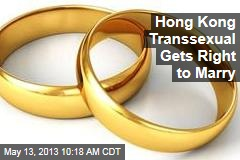 Hong Kong Transsexual Gets Right to Marry