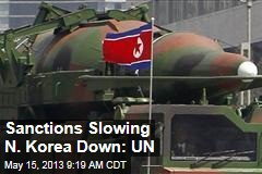 Sanctions Slowing N. Korea Down: UN