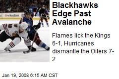 Blackhawks Edge Past Avalanche