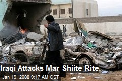 Iraqi Attacks Mar Shiite Rite