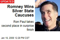 Romney Wins Silver State Caucuses