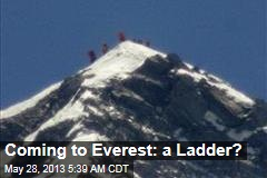 Coming to Everest: A Ladder?