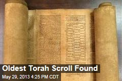 Oldest Torah Scroll Found